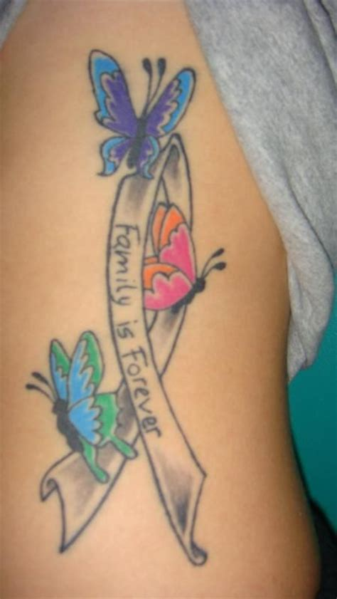 butterfly tattoos on buttocks image detail for cancer ribbon tattoos free