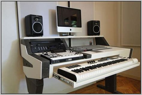 home studio workstation desk audio workstation desk plans page home design