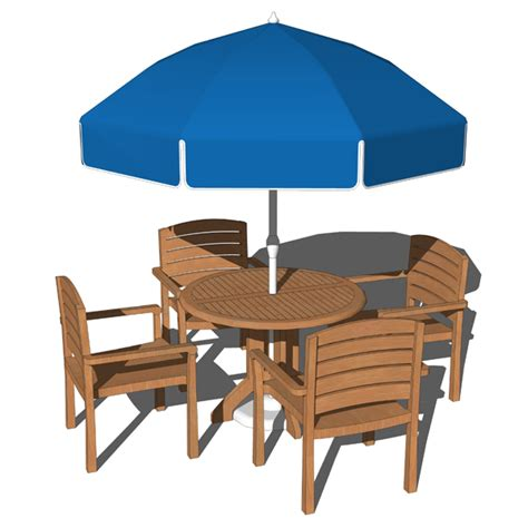 pool dining set 3d model formfonts 3d models textures - Pool Dining Table With Chairs