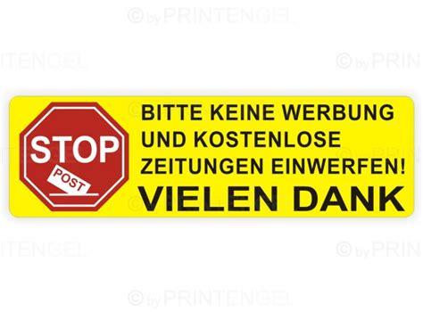 Bitte Keine Werbung Aufkleber Post by Bitte Keine Werbung Und Kostenlose Zeitung Einwerfen