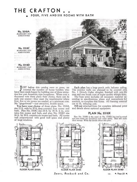 sears homes floor plans small scale homes sears kit homes