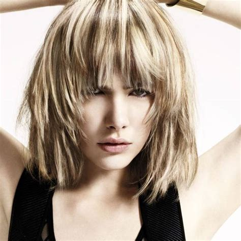shaggy and messy haircut means stylish layered bob hairstyles fashionisers