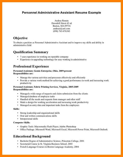 Resume Headline Exles For Administrative Assistant 10 administrative assistant objectives exles time table chart
