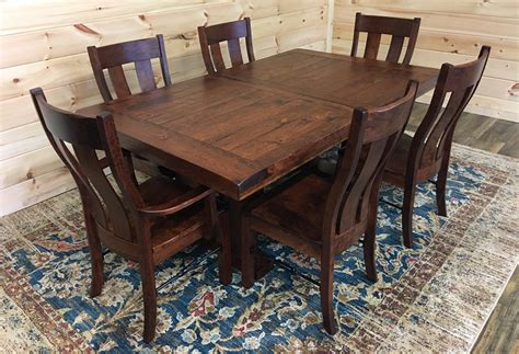 amish solid wood dining table dining table set solid wood