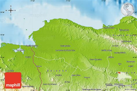 physical map of republic physical map of monte cristi