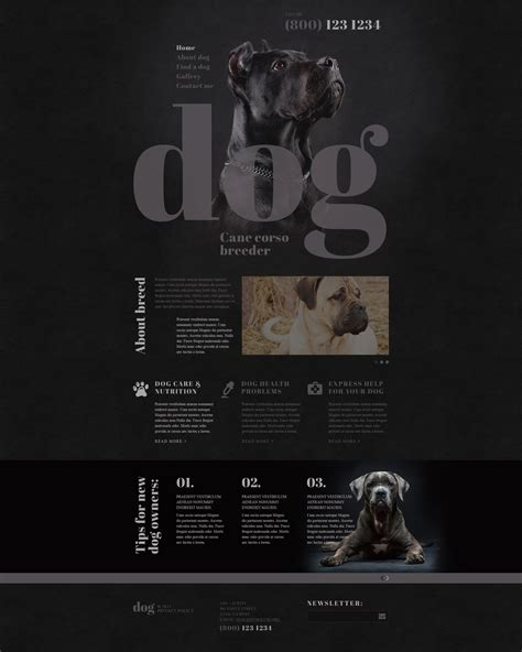 breeders websites breeds website template