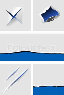 paper design elements 25 vector elements of torn paper with holes for design vector