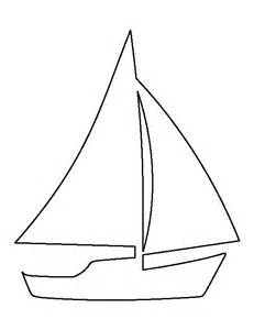 sailboat template for preschool segelboote schablonen and vorlagen on