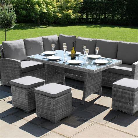 grey wicker patio furniture maze rattan garden furniture kingston grey corner dining set