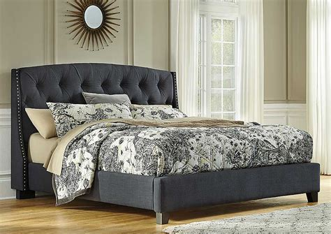 home furniture  accessories kasidon queen upholstered bed