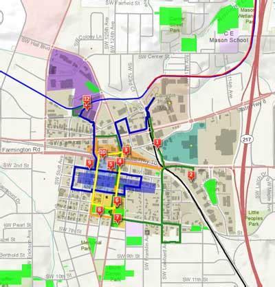 map of oregon beaverton downtown walking map beaverton or official website