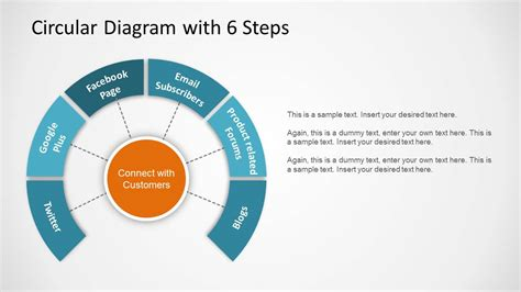 4 step segmented circular diagrams for powerpoint slidemodel 1179 circular diagram with 6 steps wide 1 jpg