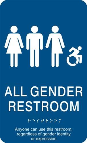 all gender bathroom sign all gender ada braille restroom sign