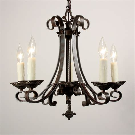 Antique Iron Chandelier Charming Antique Five Light Iron Chandelier Early 1900 S Nc1136 Rw For Sale Antiques