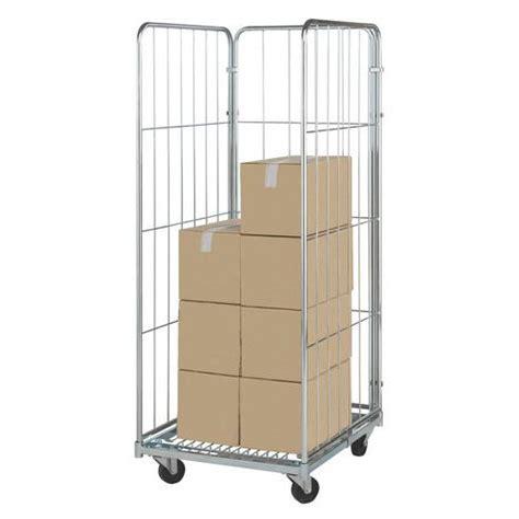 portata container roll container base in acciaio zincato portata 400 kg