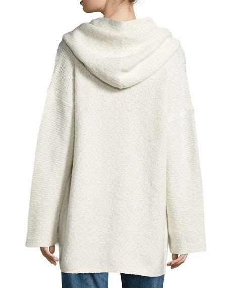 Open Front Hooded Cardigan vince oversized open front hooded cardigan