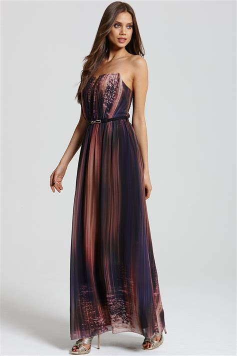 Bordira Maxi Dress border print maxi dress from uk