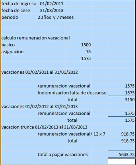 empleados de comercio liquidaci 243 n de vacaciones 2016 calculo de vacaciones liquidacion de las vacaciones 2012