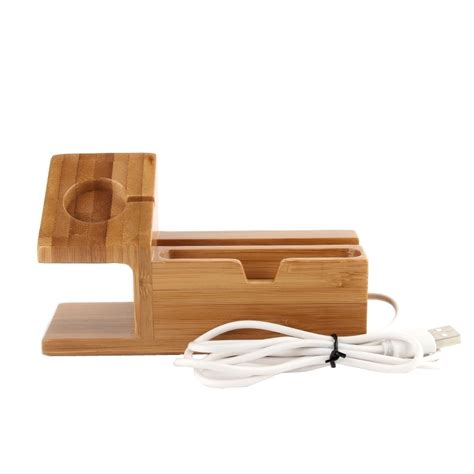 iphone desk stand charger bamboo wooden desk stand usb charger apple iphone