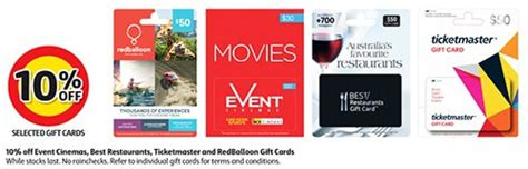 Target Ticketmaster Gift Card - expired 10 off event cinemas best restaurants ticketmaster red balloon gift