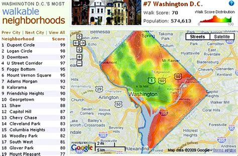 sections of dc walkability for all or only those who can afford it