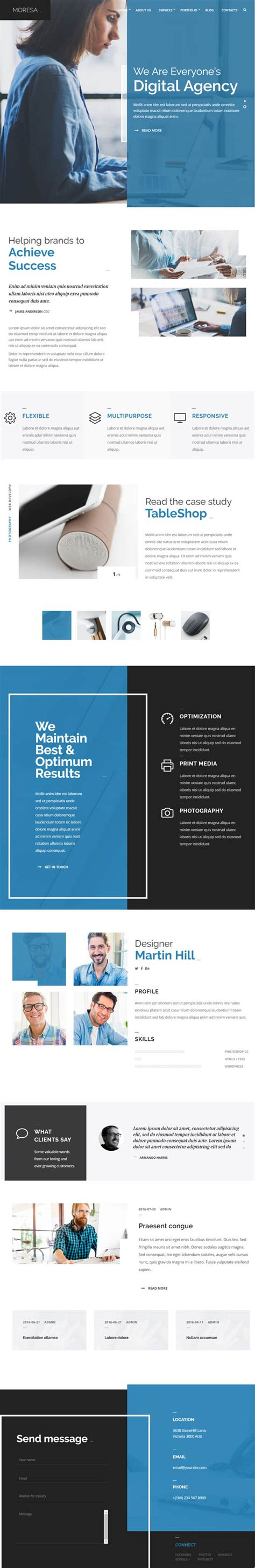 graphic design themes wordpress 25 one page multi pages business wordpress themes