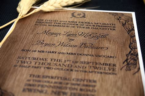Diy Wood Veneer Wedding Invitations meg bryan s diy wood veneer wedding invitations