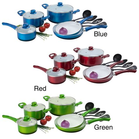 promo l living set keramik cookware ceramic non stick 12 cookware set ebay