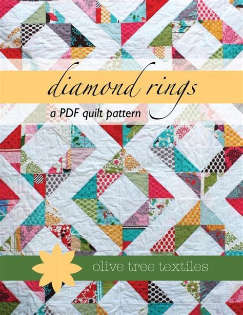 half diamond pattern in c 17 best images about quilt diamond rings on pinterest