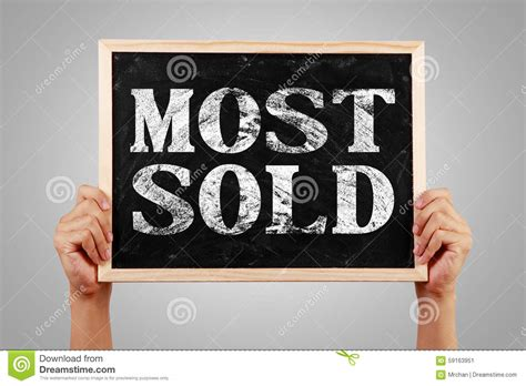 Most Sold Stock Illustration Image 59163951