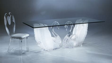 acrylic dining table clear acrylic legend swan rectangular dining table with