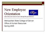 new employee orientation template powerpoint new employee safety orientation authorstream
