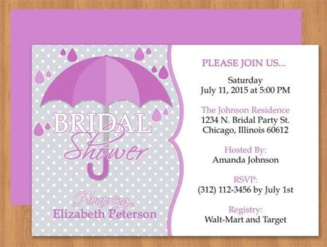 Diy Do It Yourself Purple Umbrella Bridal Shower Invitation Editable Template Microsoft Pretty Invitation Templates