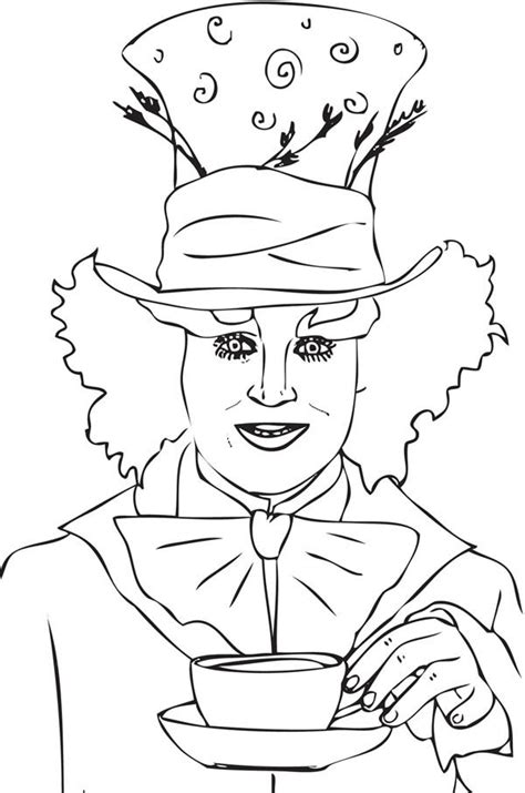 the gallery for gt mad hatter hat coloring page