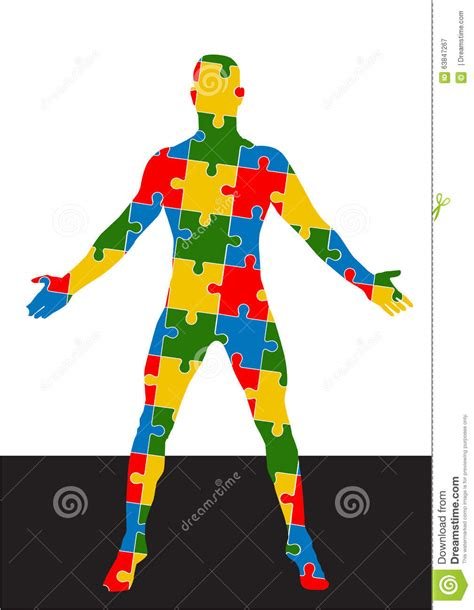 puzzle human body vector format stock vector image 63847267