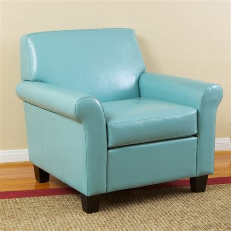 teal blue accent chair christopher home oversized teal blue bonded leather