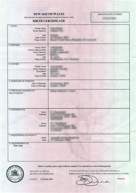 full birth certificate wa apostlle australia