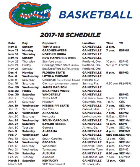 uk basketball schedule television sec announces florida gators basketball game times and tv
