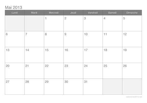 Calendrier 5 Mai Calendrier Mai 2013 224 Imprimer Calendrier2013 Net