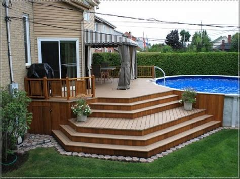 backyard pool deck ideas 1000 ideas about above ground pool decks on pinterest