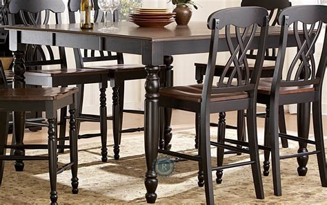 black counter height table ohana black counter height table from homelegance 1393bk