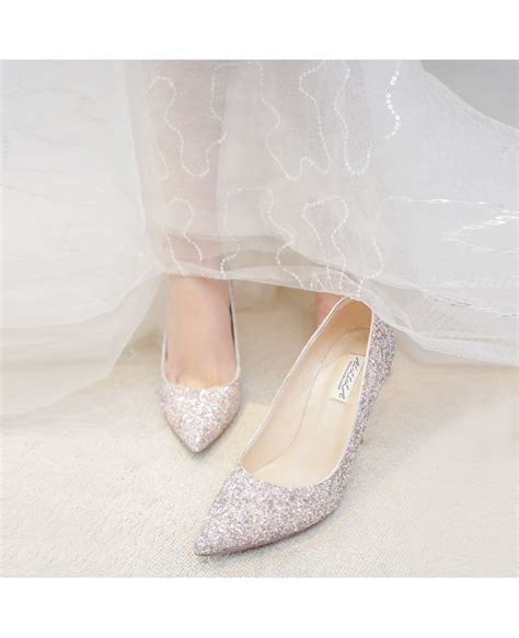 Wedding High Heels For Brides by Simple Sparkly Silver Wedding Shoes High Heels For Brides