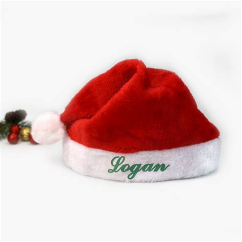personalized gifts plush santa hat shop now