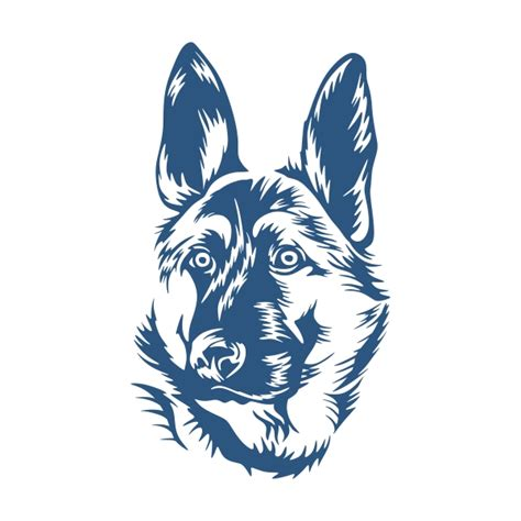 german shepherd cuttable design