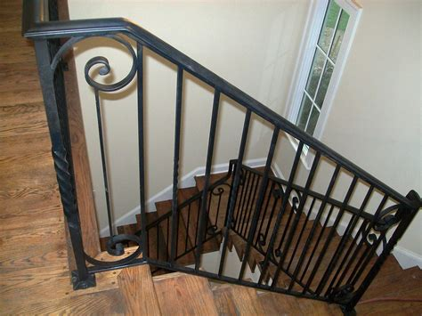 Rod Iron Banister by Wrought Iron Stair Railing