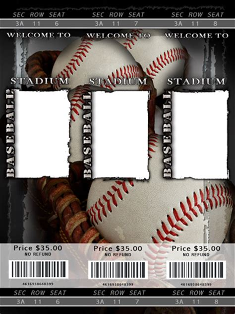 Baseball Photo Templates Baseball Ticket Template