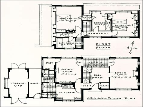 1940 House Plans by 1940 House Styles 1930s House Floor Plans 1930s House