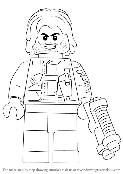 lego soldier coloring pages learn how to draw lego winter soldier lego step by step