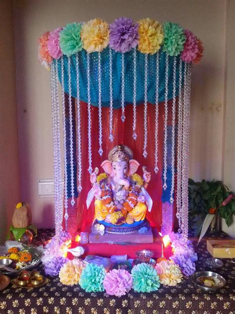 ganesh mandap design decoration  ganpati ganesh