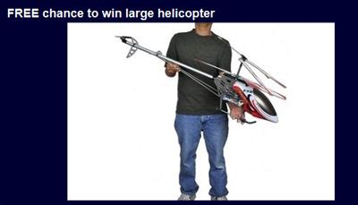 Your Chance To Win Free Stuff by Win A Large 4ft Radio Helicopter